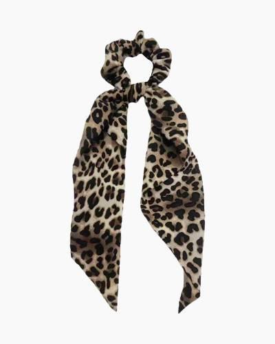 Leopard Print Scrunchie Scarf