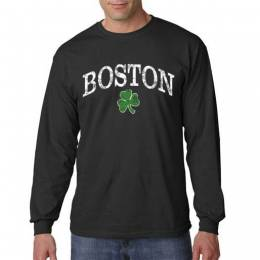 The Paper Store Boston Shamrock Men's Long Sleeve Sweatshirt