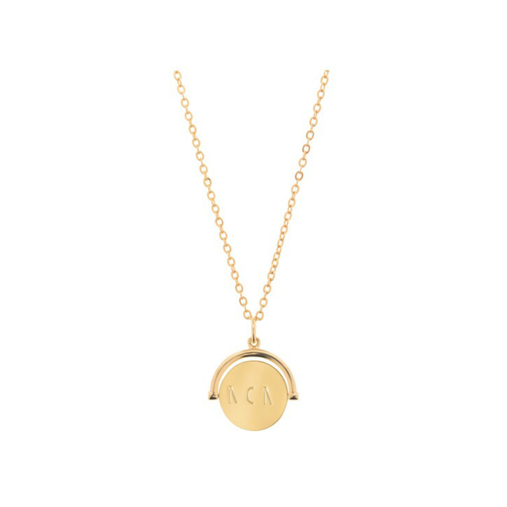 Lulu DK Mom Love Code Charm Necklace in Gold