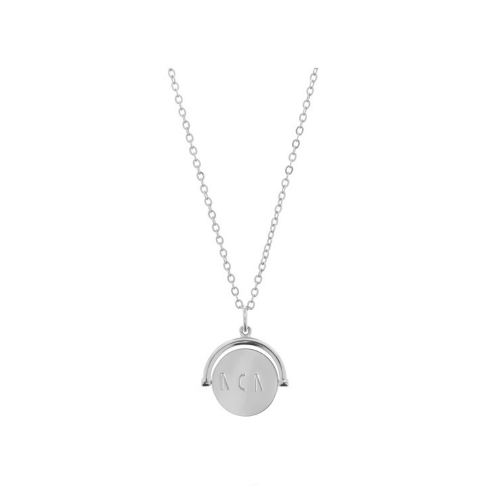 Lulu DK Mom Love Code Charm Necklace in Silver