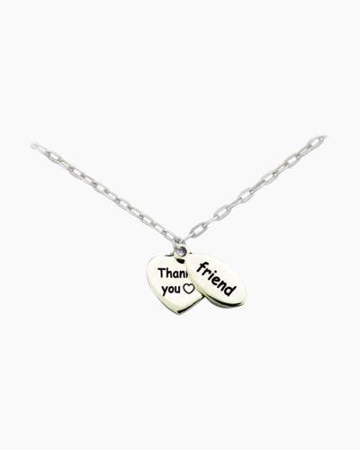 Thank You Friend Pewter Necklace