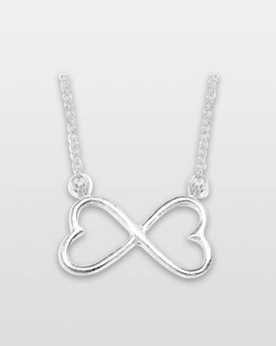 Infinity Hearts Pewter Necklace