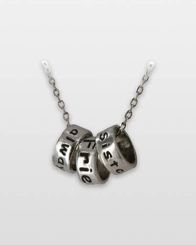 Sister Rings Pewter Necklace