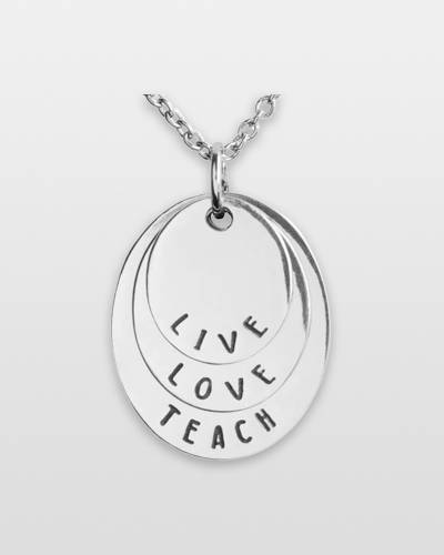 Live, Love, Teach Necklace