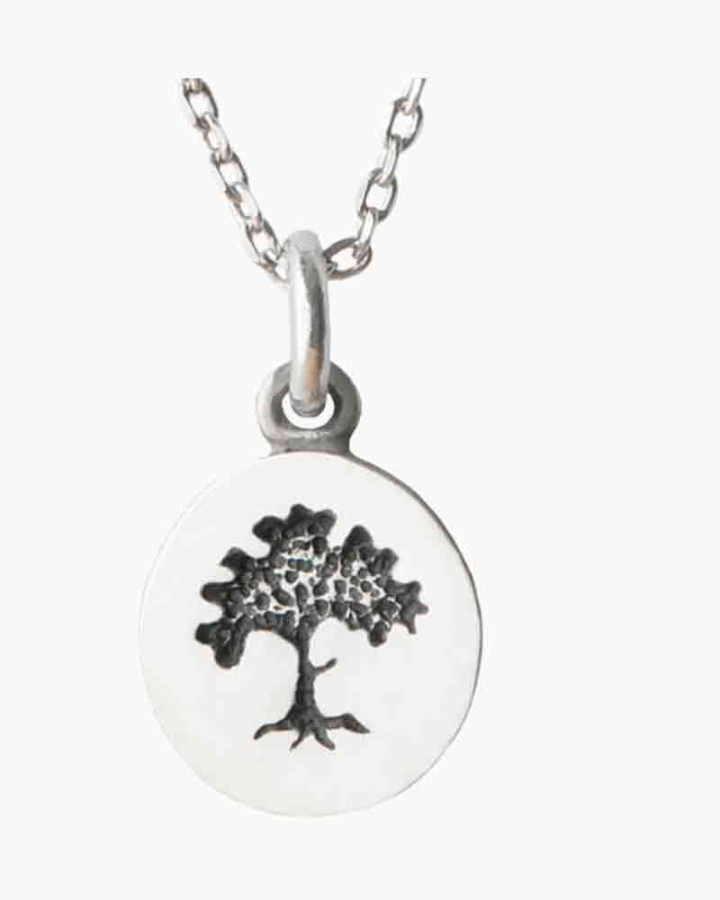 Greater Good Tiny Tree Pewter Necklace