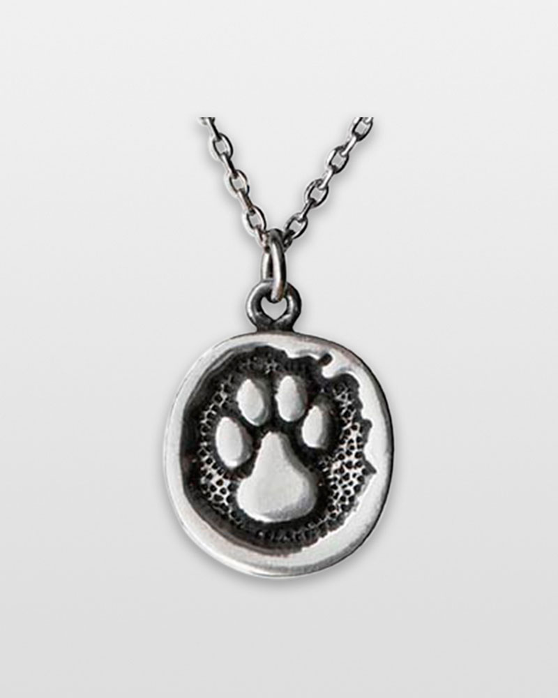 Greater Good Paw Print Pewter Necklace