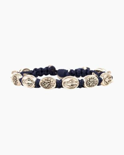 Miraculous Mary Blessing Navy Bracelet