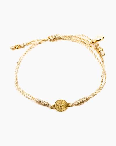 Metallic Gold Breathe Blessing Bracelet