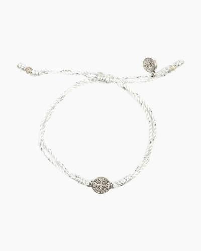 Metallic Silver Breathe Blessing Bracelet