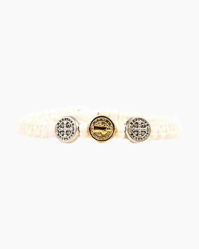 First Communion Blessing White Bracelet