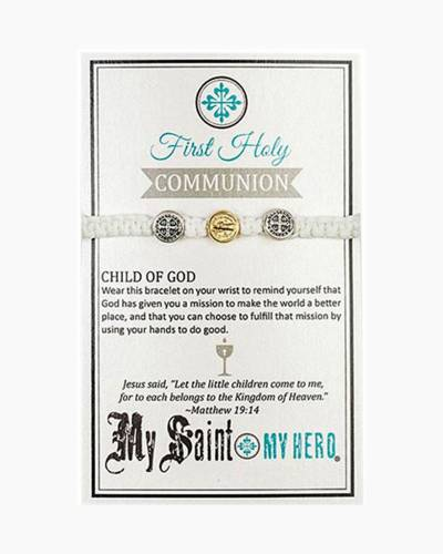 First Communion Blessing White Bracelet
