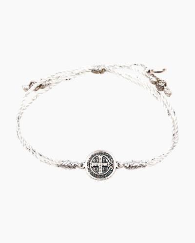 Serenity Blessing Bracelet in Metallic Silver