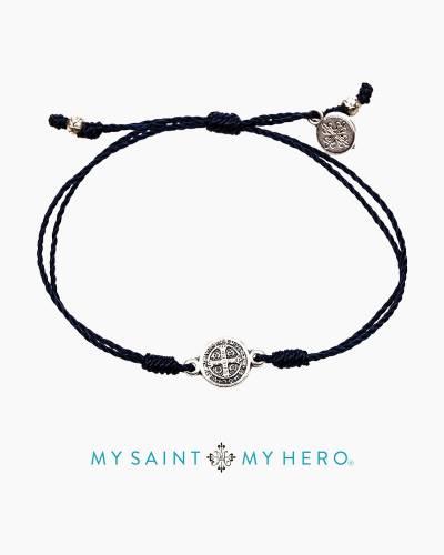 Breathe Blessing Bracelet in Navy