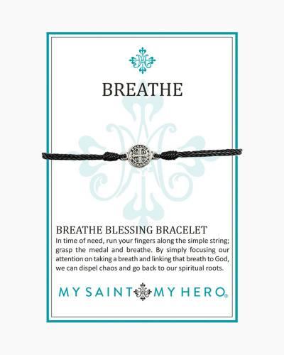Breathe Blessing Bracelet in Black