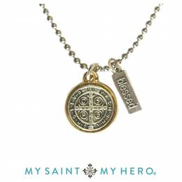 My Saint My Hero Benedictine Blessing Necklace
