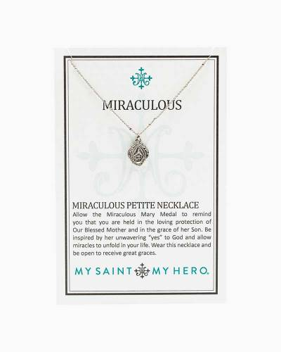 Miraculous Mary Petite Necklace in Silver