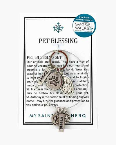 Pet Blessing Tag and Bracelet Set
