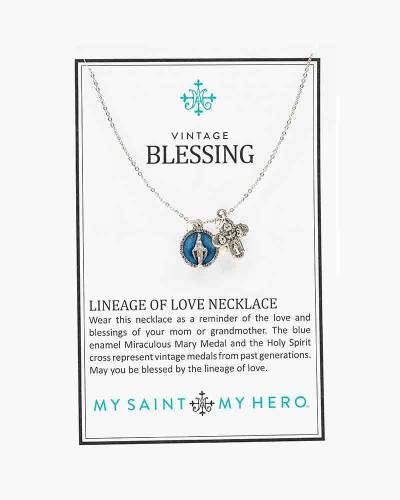Vintage Blessing Lineage of Love Necklace in Silver