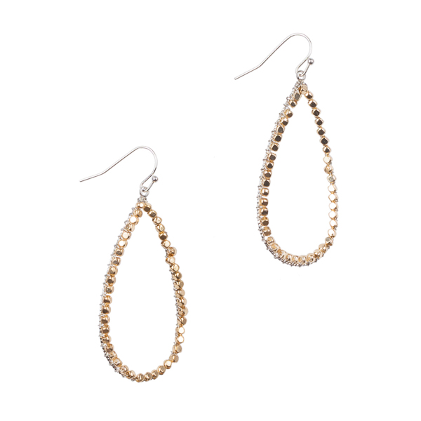 Mia and Tess Open Teardrop Earrings