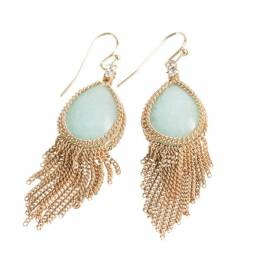 The Paper Store Fringe Teardrop Earrings