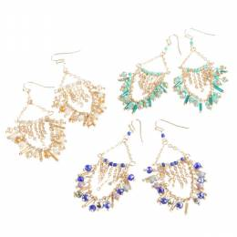 The Paper Store Stone Studded Chandelier Earrings