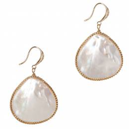 Mia and Tess Mother of Pearl Teardrop Earrings