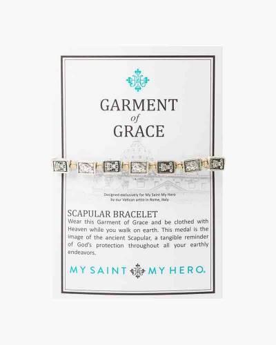 Garment of Grace Scapular Bracelet in Tan
