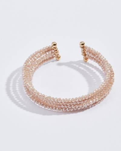 Five Layer Beaded Bracelet in Pink