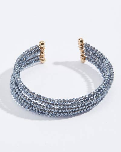 Five Layer Beaded Bracelet in Navy