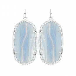 Kendra Scott Elle Earrings in Blue Lace Agate