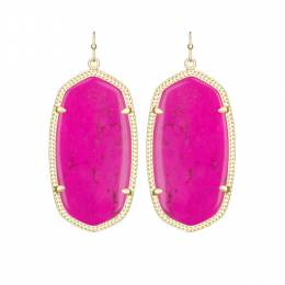 Kendra Scott Danielle Gold Earrings in Magenta