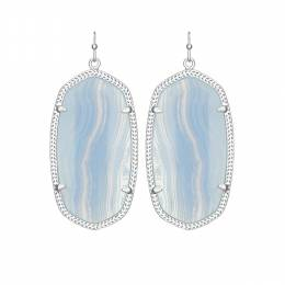 Kendra Scott Danielle Earrings in Blue Lace Agate