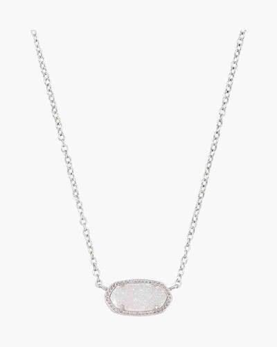 Iridescent Drusy Elisa Silver Pendant Necklace