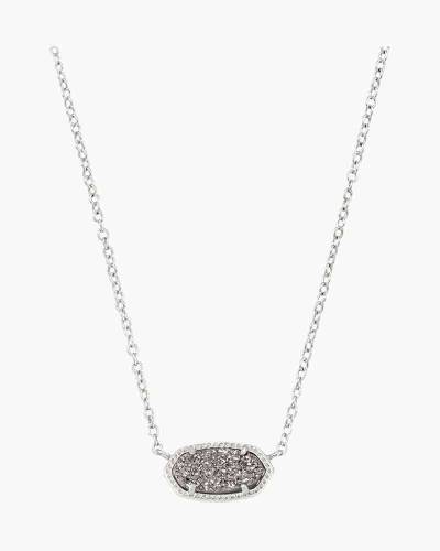 Platinum Drusy Elisa Silver Pendant Necklace