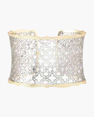 Silver Filigree Mix Candice Gold Cuff Bracelet