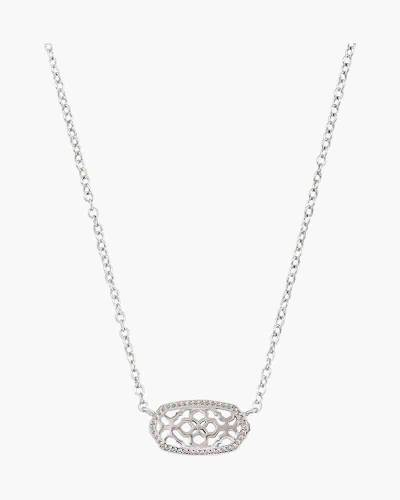 Elisa Silver Filigree Pendant Necklace