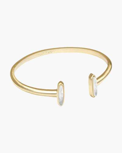 Ivory Mother of Pearl Mavis Gold Cuff Bracelet