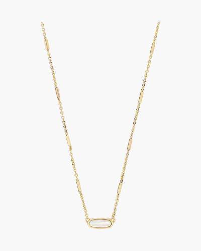 Ivory Pearl Miya Gold Pendant Necklace