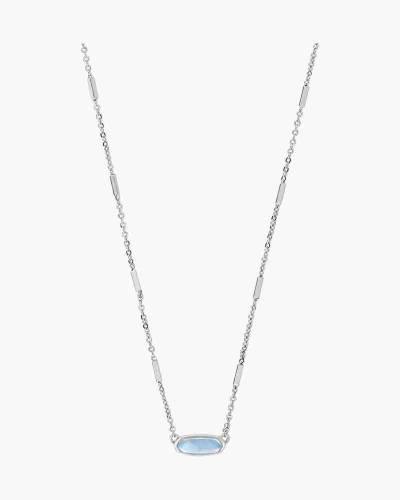 Sky Blue Illusion Miya Bright Silver Pendant Necklace