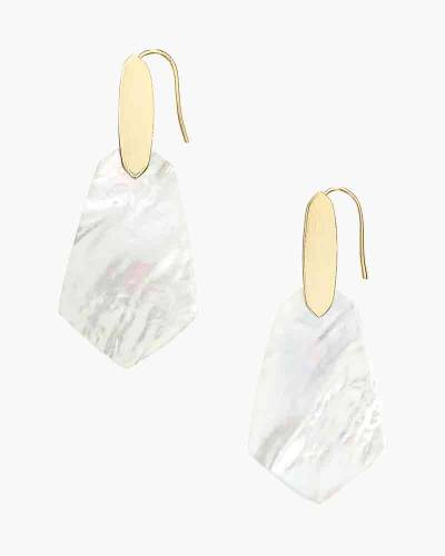 Ivory Pearl Camila Gold Drop Earrings