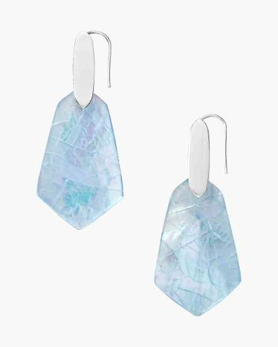 Sky Blue Illusion Camila Bright Silver Drop Earrings
