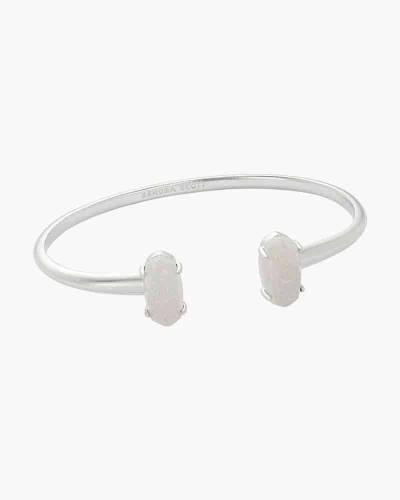 Iridescent Druzy Edie Bright Silver Cuff Bracelet
