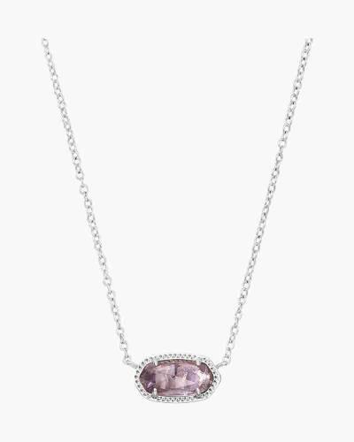 Amethyst Elisa Silver Pendant Necklace