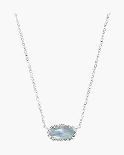 Light Blue Illusion Elisa Silver Pendant Necklace