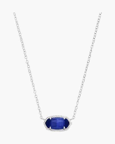 Cobalt Cats Eye Elisa Silver Pendant Necklace