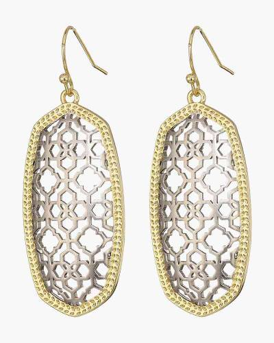 Elle Earrings in Two-Tone Finish