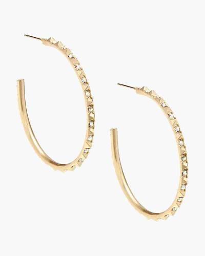Veronica Hoop Earrings in Gold