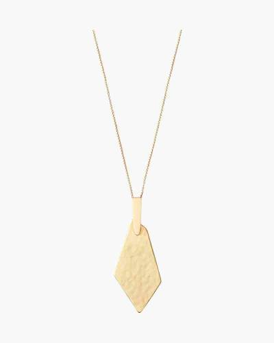 Brenton Long Pendant Necklace in Gold
