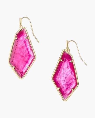 Emmie Gold Drop Earrings In Azalea Illusion
