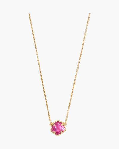 Jaxon Gold Pendant Necklace in Azalea Illusion